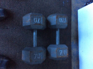 70 lb. Dumbbells will trade for 50 lbs.