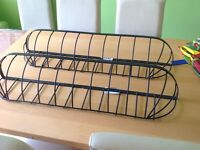 Wrought iron wall troughs X 2