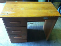 Small Desk Solid Wood