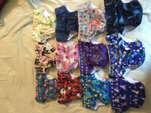 24 Glow Bug cloth diapers plus all accessories needed