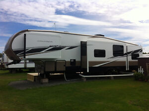 2013 Cruiser 37BH fifth wheel with seasonal lot at Sandy Beach