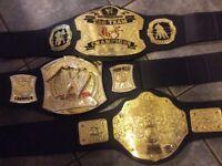 3 Retro WWE belts for children