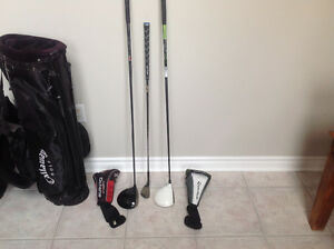 TaylerMade and Callaway drivers