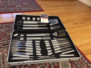 24 pc. stainless steel BBQ set