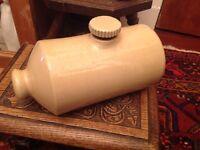 Antique stoneware hot water bottle