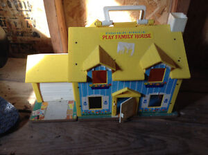Vintage fisher price school house and house for sale London Ontario image 3