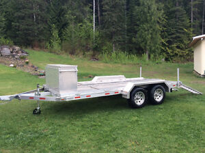 Utility Flatbed Trailer Custom Built with REMOVABLE Cargo Box Prince George British Columbia image 1