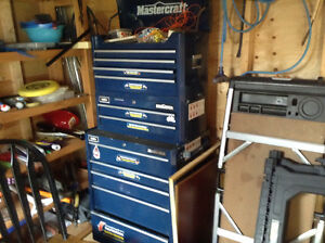 3 piece tool storage cabinet and work bench