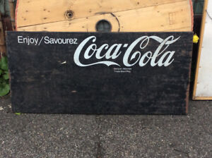 Antique COCA-COLA metal sign !
