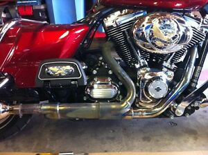 Full Factory Exhaust from a 2013 Harley Davidson Roadking