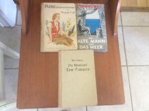 Three vintage children's books in German