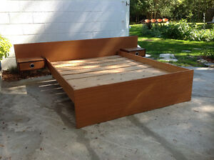 Vintage Teak Double Bed Frame