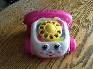 Téléphone rose Fisher Price année2000