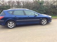 PEUGEOT 407 estate 2008 model fully loaded sat nav panaramic roof diesel 55 mpg fully loaded