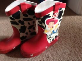Size11 Wellington boots for a girl