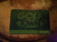 Gift Card to Golf Town