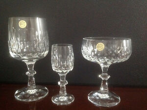 "Crystal Wine Glass Set-Echt Bleikristall ""Flamenco"" London Ontario image 2"