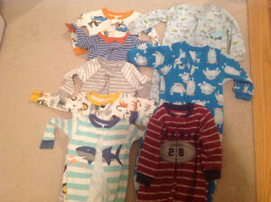 Size 12 months baby boy sleepers