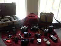 Pentax cameras and accessories