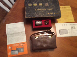 GBS Transistor Radio in Leather Case.