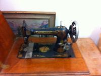 Antique Singer Treadle Sewing Machine in Original Cabinet
