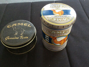 Camel cigarette cans/boxes