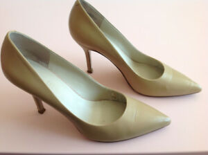 Nine West Beige Pumps Heels, Size 7