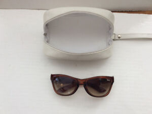 WOMENS OAKLEY B347 SUGAR BROWN SUNGLASSES + CASE