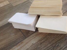 Approximately 400 envelopes