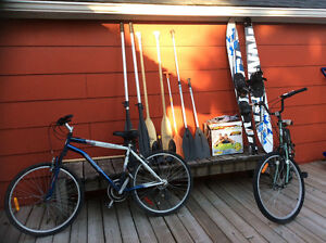 Boat stuff and bikes