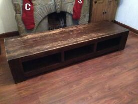 Bespoke Oak Wood Coffee table Chunky Large Heavy Farmhouse Chic Country Shabby
