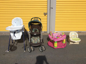 STROLLER - HIGH CHAIR-  SAUCER - FEEDER CHAIR$120 obo takes all