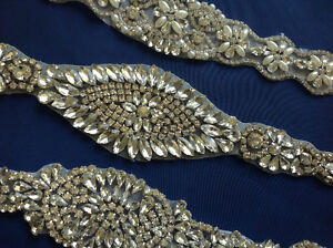 Crystal appliqué for gowns