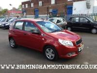 2009 (09 Reg) Chevrolet Aveo 1.2 S 5DR Hatchback RED + LOW MILES
