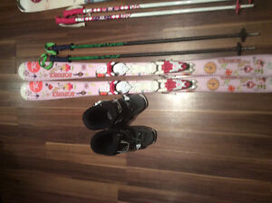 Rossignol Downhill skis with bindings, boots and poles