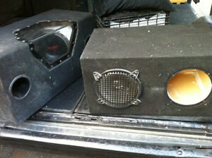 speaker boxes (just box)   or trade for complete sysytem install