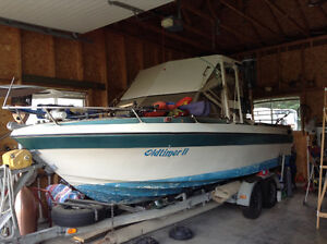 21.5 ft Harbercraft fishing boat with galvanized trailer