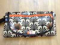 Gorgeous fold up changing mat/clutch bag