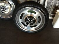 Harley Davidson Night Rod Rims with new tires.  $1000