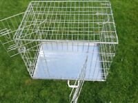 Dog cage for small to medium dogs. Silver welded wire.