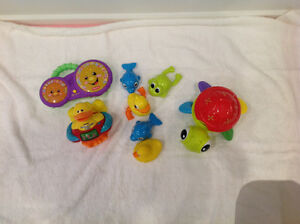 Collection of bath toys 0-2 years