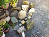Rocks for rockery or garden use