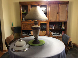 Table Lamp and Ceiling Light