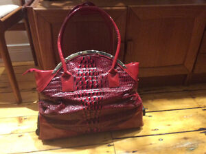Large Carry on style Purse with Rollers