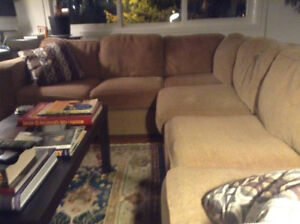 Sectional couch with pull out bed