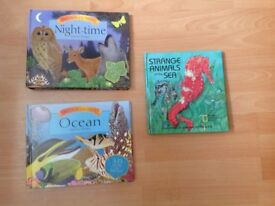 3 Kids Animal Pop-up Books with Sounds Educational Non-fiction Science Books