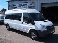 2010/60 FORD TRANSIT LWB 15 SEAT MINIBUS 6 SPEED WITH TACHO CHOICE OF BUSES