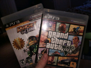 Ps3 gta 5 and Rachet and clank!