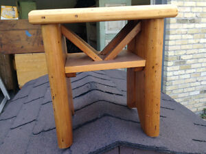 Vintage pine stool /table for sale