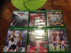 Xbox one , 6 disc games and couple dowloded to the Xbox
